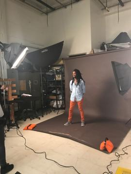 Photo shoot image - behind the scenes